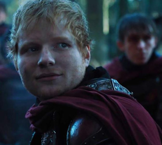 Ed Sheeran posts set picture after 'Game of Thrones' cameo