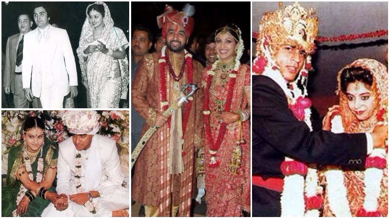 In Pictures: Rarely seen wedding photos of Bollywood couples