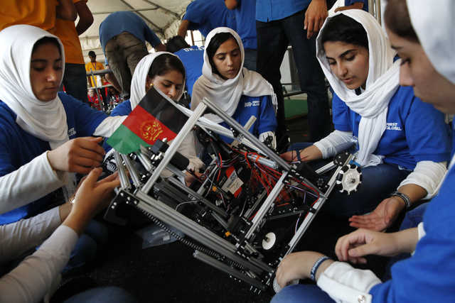 IN PICTURES: Afghan girls' story was among many at global robotics event