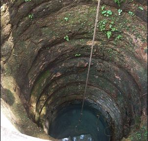 Housemaid survives after falling into deep well
