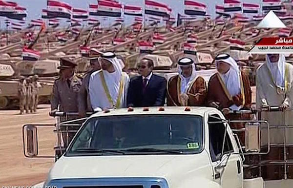 Egyptian President opens largest military base in the Middle East