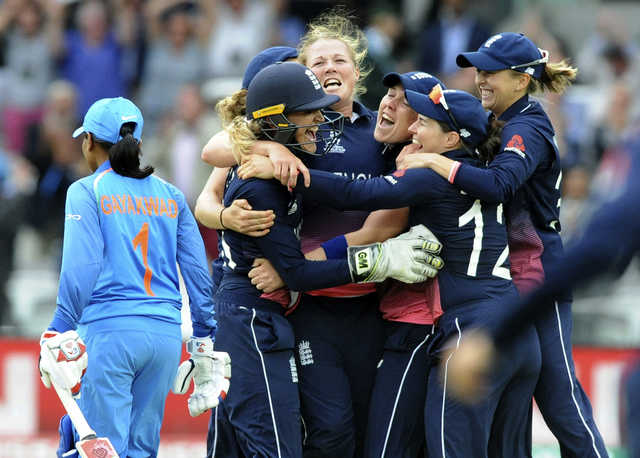 England beat India by nine runs to win Women's World Cup