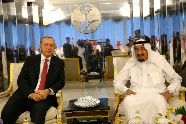 Erdogan holds talks with King Salman