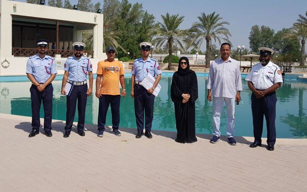 Civil Defence inspects Ain Adhari pool ahead of its reopening