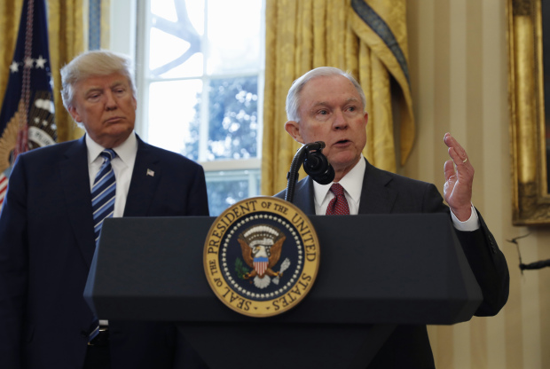 "Trump cranks up heat on Sessions, says ""time will tell"" fate"