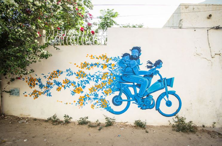 Artists from around the world have turned this Tunisian village into piece of art
