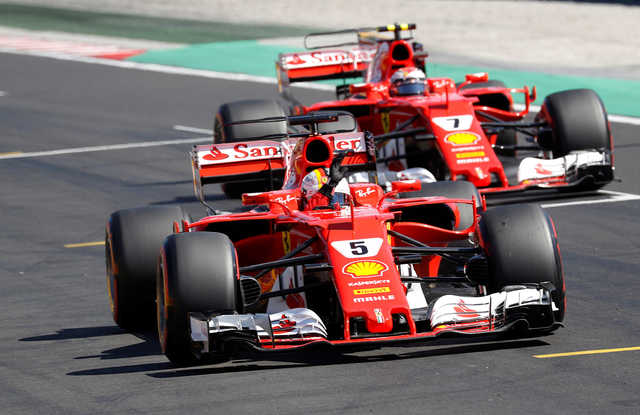 Ferrari duo lock front row at Hungarian Grand Prix