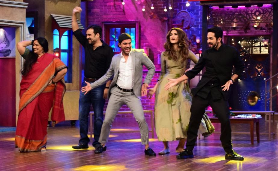 PHOTOS: Ayushmann Khurana, Kriti Sanon sing and dance as they promote 'Bareilly ki Barfi'