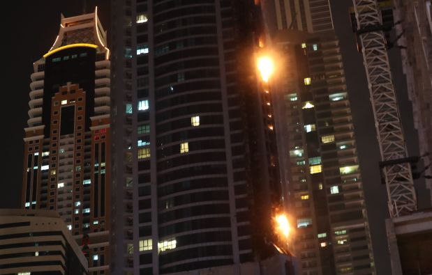 In Pictures: Blaze rips through Dubai skyscraper 'The Torch'