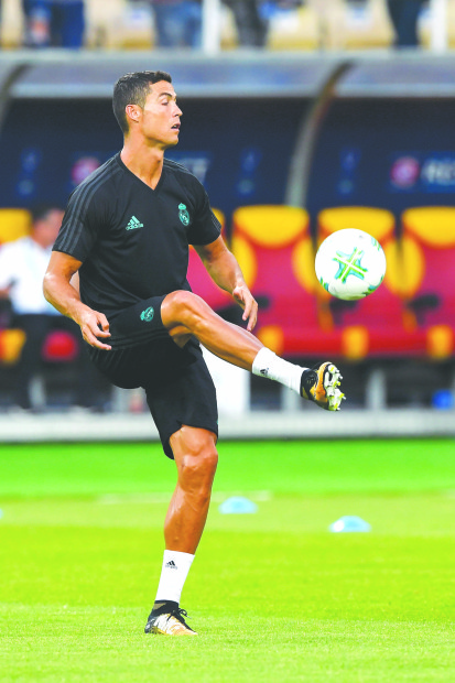 Ronaldo to face United in Super Cup