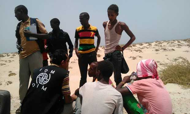 56 dead as smugglers throw 300 migrants into sea
