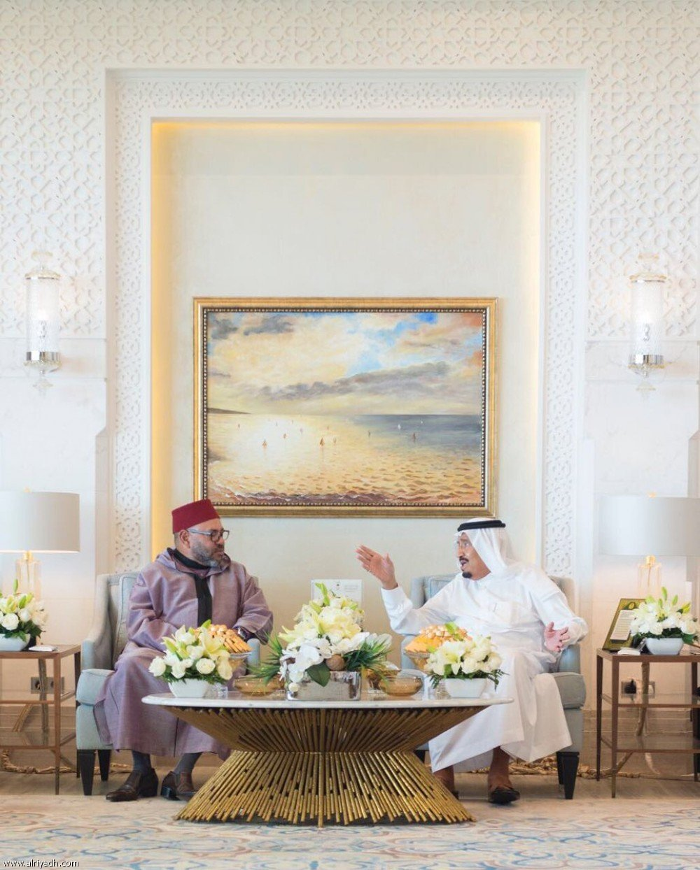 PHOTOS: Saudi leader meets Moroccan monarch