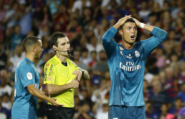 Spanish Super Cup: Ronaldo sent-off, but Real roll over Barcelona