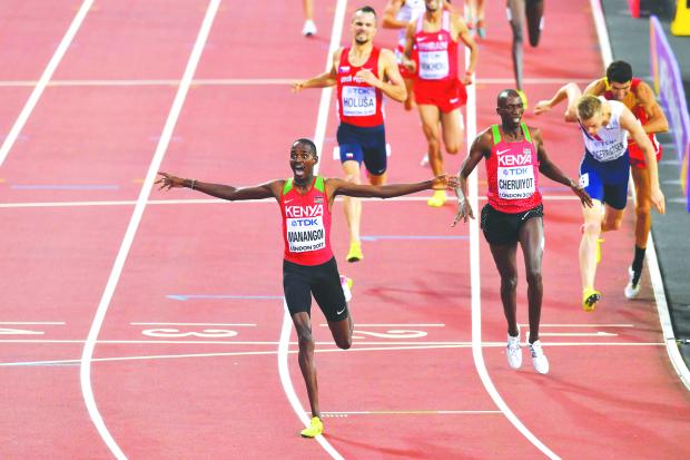 Kenya 1-2 finish