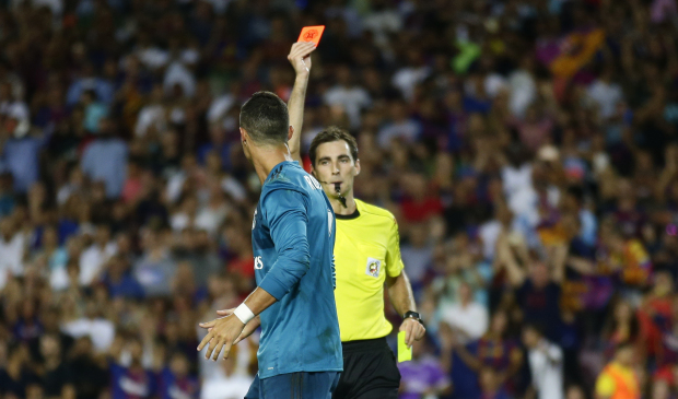 Spanish Super Cup: Ronaldo banned for five games after pushing referee
