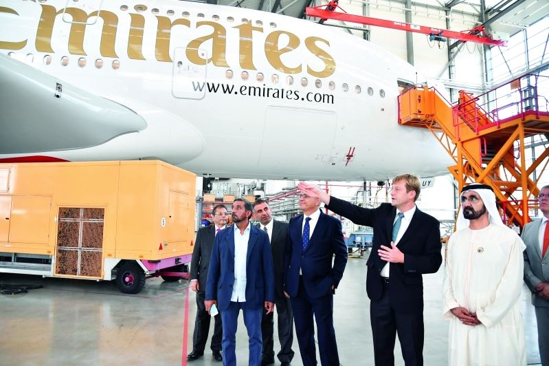 PHOTOS: Dubai ruler tours Airbus plant in Hamburg
