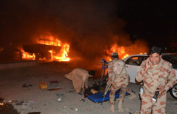 Roadside bomb kills six paramilitary forces in Pakistan