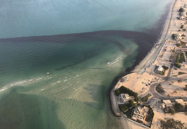 Group estimates 34,000 gallons of oil spilled off Kuwait
