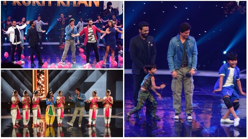 In Pictures: Shah Rukh Khan shakes a leg with kids on 'Dance Plus 3' TV show