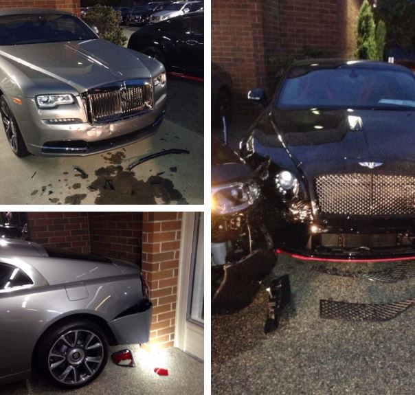 Police arrest man accused of ramming Bentley, Rolls-Royce