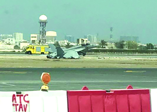 Probe into crash-landing of US F-18 fighter jet at Bahrain airport