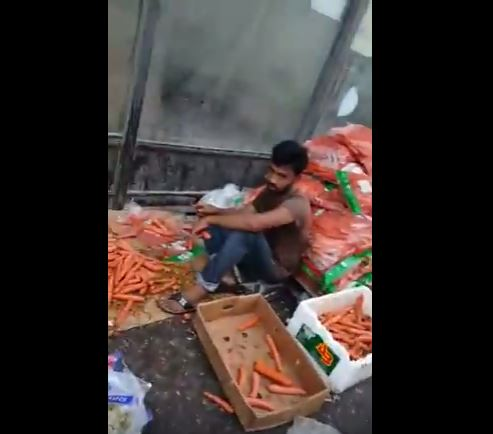 VIDEO: Street vendors resell dumped fruits and vegetables as fresh