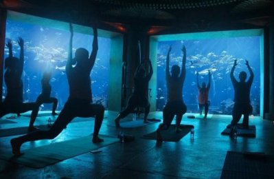Atlantis, The Palm brings back biggest underwater yoga class