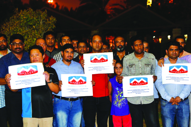 Former staff of engineering firm protest unpaid salaries