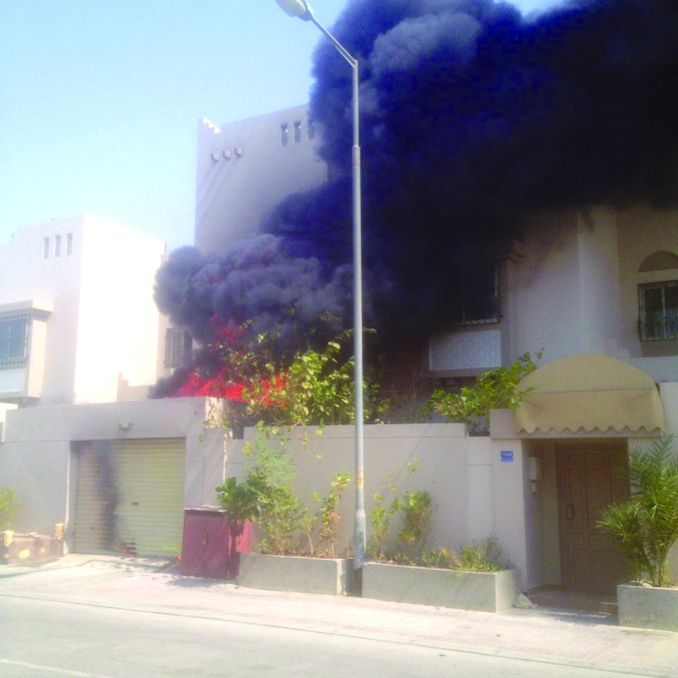 Bahrain family escape unhurt from house blaze