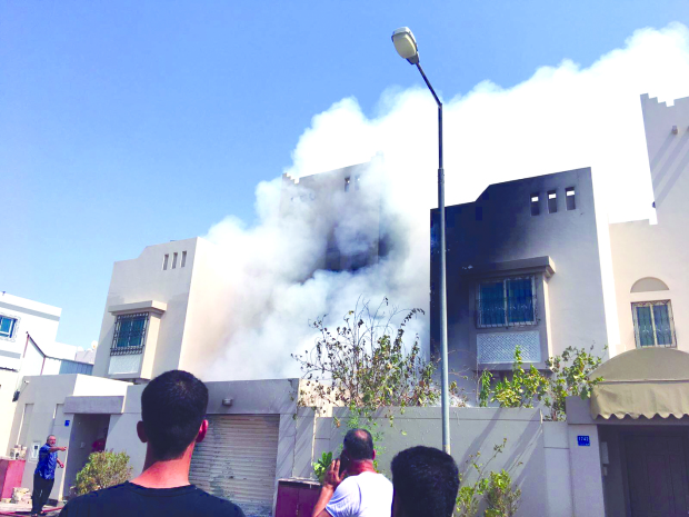 Bahrain family escape unhurt from house blaze