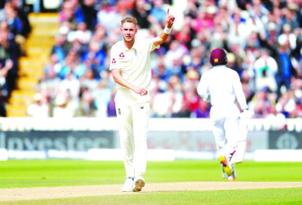 Broad hero as England score innings victory over West Indies
