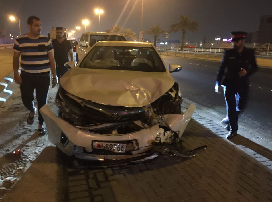 PHOTOS: Bahrainis injured in highway car accident