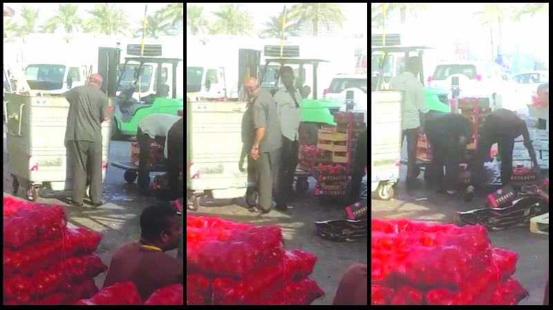 New shocking video of man picking vegetables from garbage for restaurant