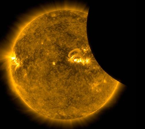 NASA reveals STUNNING images of what the solar eclipse looked like from space