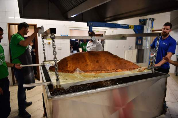 In Pictures: Record for world's largest samosa smashed in London