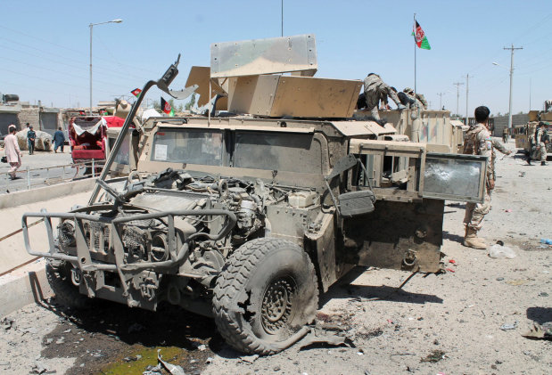 Taliban suicide bomber targeting Afghan police kills seven