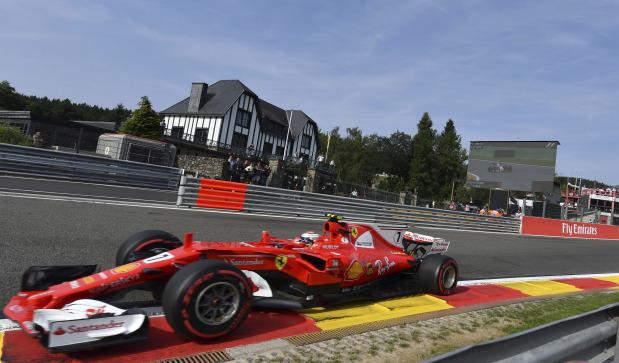 Raikkonen fastest in first Belgian GP practice