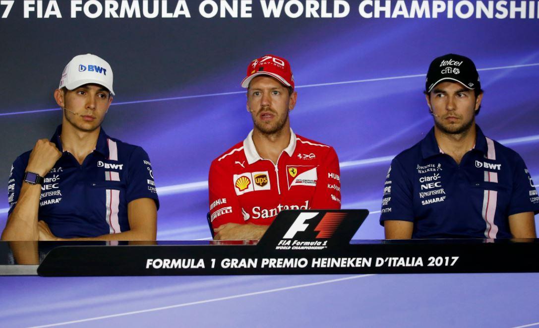 Force India pair settle crash row