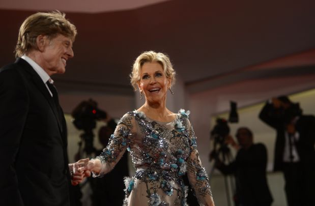 In  Pictures: Golden oldies Jane Fonda and Robert Redford wow Venice