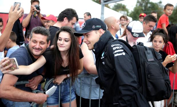 Bottas fastest in Monza practice