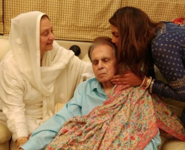 Priyanka Chopra visits Dilip Kumar, Saira Banu