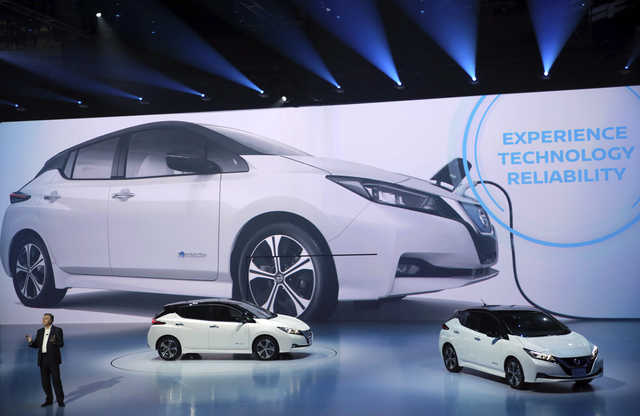 PHOTOS: Nissan unveils new electric car in bid to drive off competition