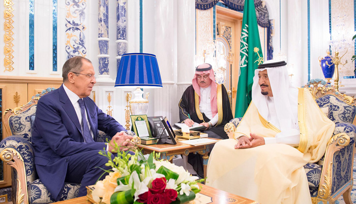 Saudi King meets Russian Foreign Minister