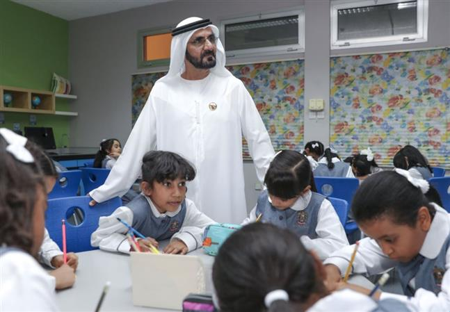 In Pictures: Shaikh Mohammad visits schools as new academic year begins