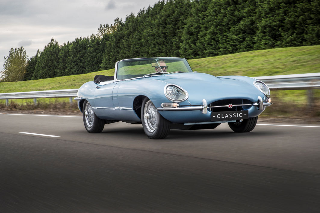 Electric-powered Jaguar E-Type unveiled