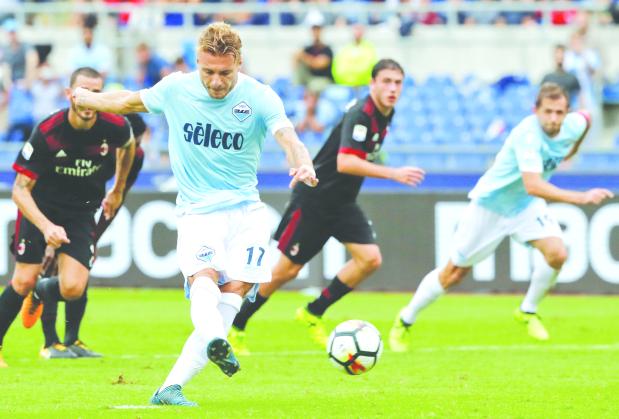 Immobile hat-trick seals Lazio victory