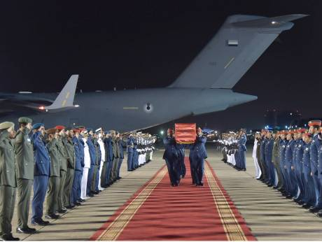 Body of UAE pilot arrives in Abu Dhabi