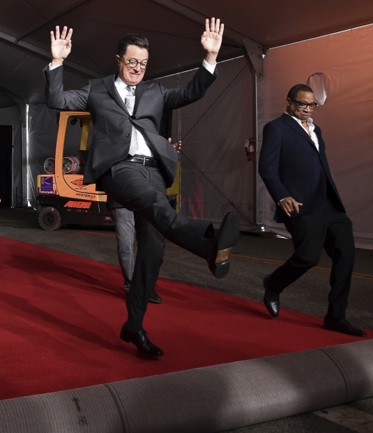 Stephen Colbert rolls out red carpet for political Emmy show