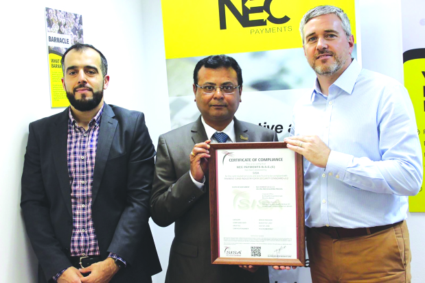 NEC Payments wins major data security certification