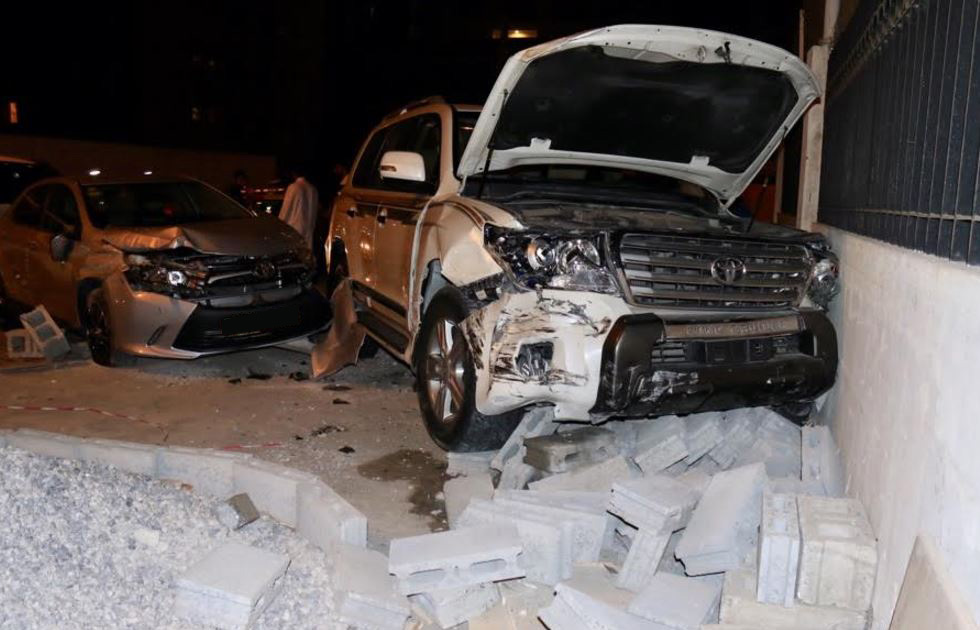 Arab girl 'crashes car' into two parked vehicles in Juffair